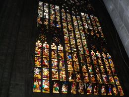 Stained glass windows inside the Duomo, ALEX F - July 2010