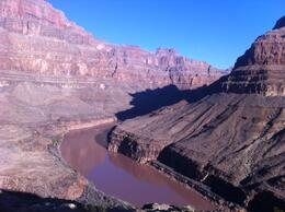 View from the bluff on the Grand Canyon All American Helicopter Tour, lgs888 - June 2014