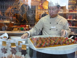 Photo of Brussels Brussels Chocolate Walking Tour and Workshop Window shopping