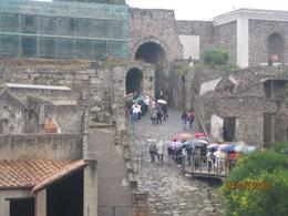 In this picture we are on our way in to the ancient city of Pompeii. It was a little rainy, but not enough to cause any problems with our tour., David S - May 2010