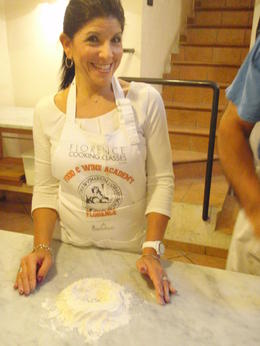 Photo of Florence Florence Cooking Class: Learn How to Make Gelato and Pizza Geri making her  and quot;well and quot;