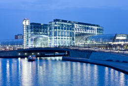 Photo of Berlin Berlin Evening Cruise Hauptbahnhof at night