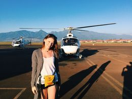 Photo of Maui West Maui and Molokai Exclusive 45-Minute Helicopter Tour Heading out to the helicopter
