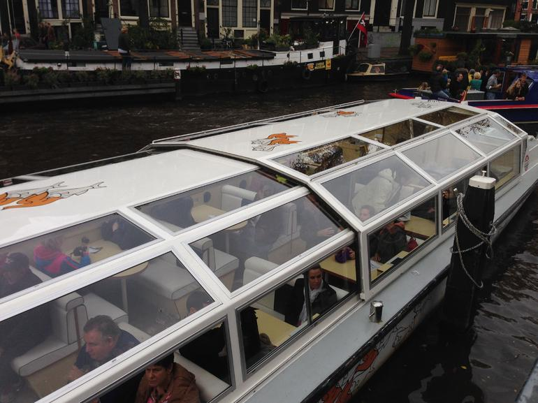 Hop on and off canal bus - Amsterdam