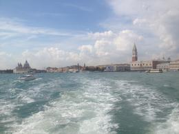 Photo of Venice Murano, Burano and Torcello Half-Day Sightseeing Tour Looking back at St Mark's Square.