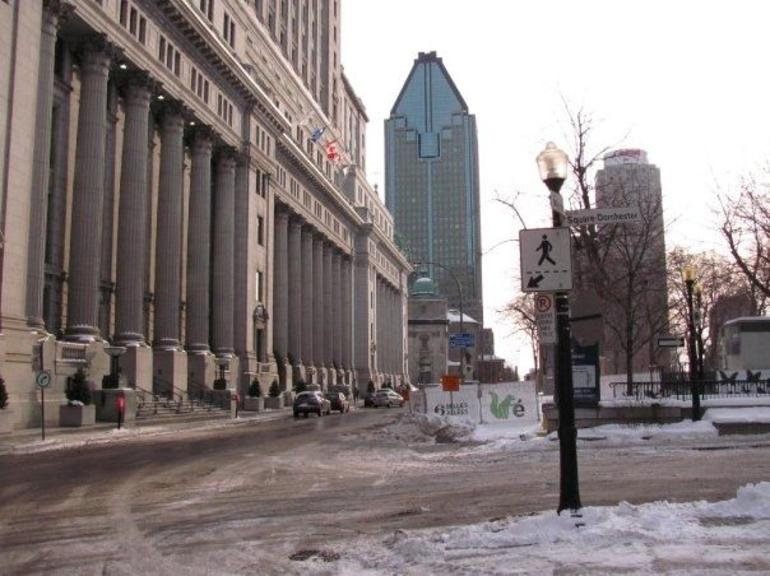 near the tour departure location (peel street area) - Montreal