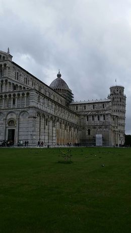 The leaning tower of pisa in the background. , Joan G - November 2015