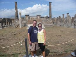 My husband and I at Pompeii, Christopher F - September 2010
