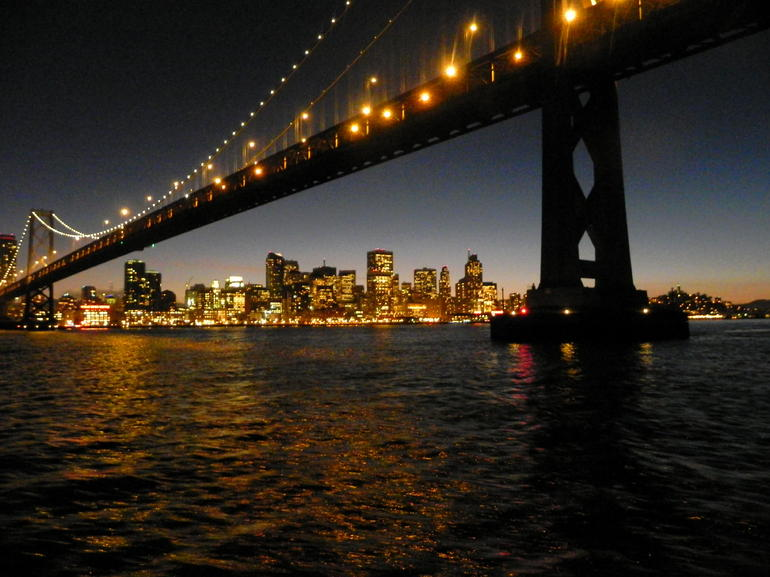 San Francisco at night under the Bay Bridge - San Francisco