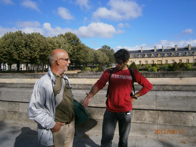 The guy in red are our wounderful guide. - Paris