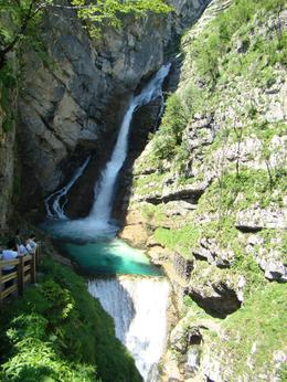 Photo of Ljubljana Bled and Bohinj Valley Tour from Ljubljana The Waterfall