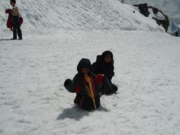 My kids enjoying snow , T.R Sivaramakri R - June 2011