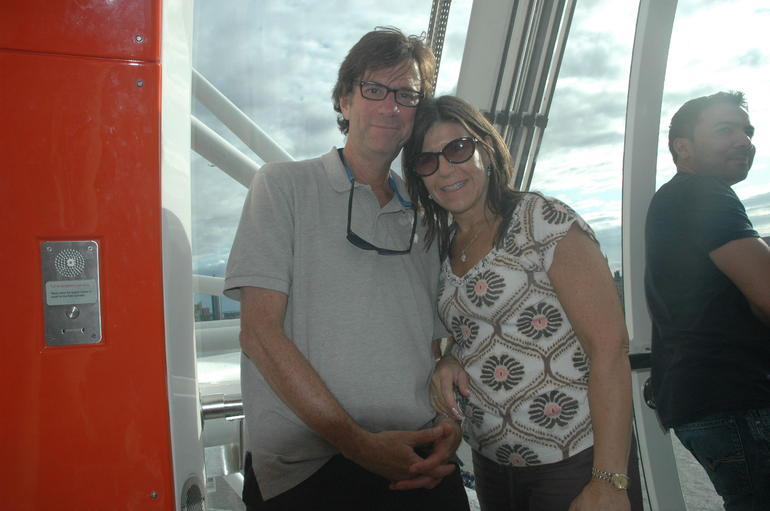Up in the sky on the London Eye! - London