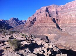 View from the bluff on the Grand Canyon All American Helicopter Tour, laura s - June 2014