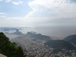 Morning view of the beaches and the Sugar Loaf from Christ the Redeemer , Dino - January 2016