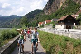 Riding our bikes on tour through the Wachau Valley, Austria - November 2011