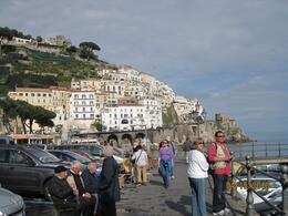A few members of our tour group are shown strolling around Amalfi after sharing gelati. Beautiful place!, David S - May 2010