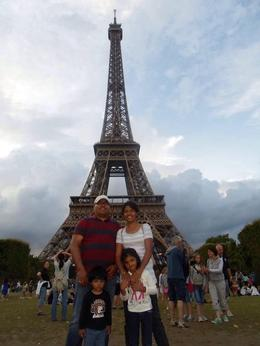 Family pic @ Eiffel Tower , Sridhar G - September 2014