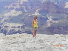 108 degrees on the west rim and 75 degrees on the South rim.., Deanna M - August 2010