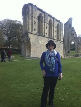 Here I am finally at the amazing Glastonbury Abbey , marianne k - May 2013