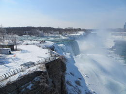 Photo of New York City Niagara Falls Day Trip from New York by Air Niagara Falls Half frozen March 2014