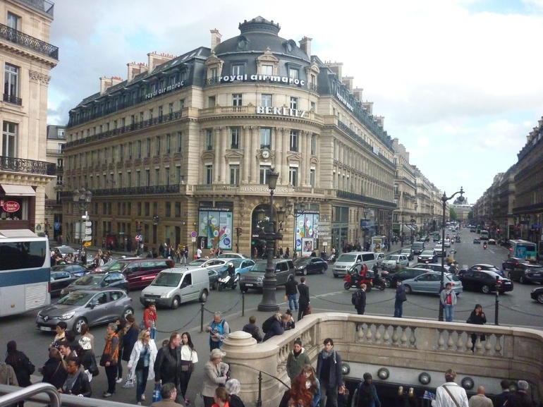 on a bus tour. ( about an three quarters of an hour all the way round - Paris