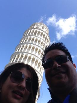 Photo of Florence Pisa and the Leaning Tower Half-Day Trip from Florence Selfie at the Tower of Pisa