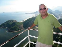 View of Copacabana Beach from the very top of Sugar Loaf Mountain., Ariel V - February 2010