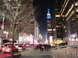 The Empire State building as seen from street level. , Allan R - December 2012