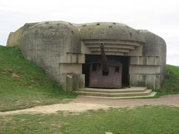 One of the many remaining German bunkers, Kristen K - November 2009