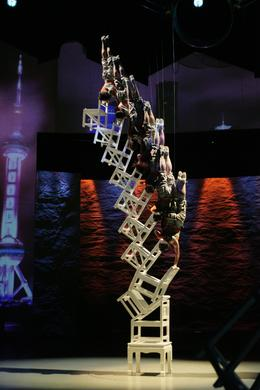 Photo of Shanghai Shanghai Circus World: ERA Intersection of Time Acrobatics Show Chair art.JPG