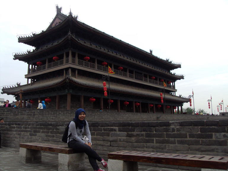 at the xian city wall
