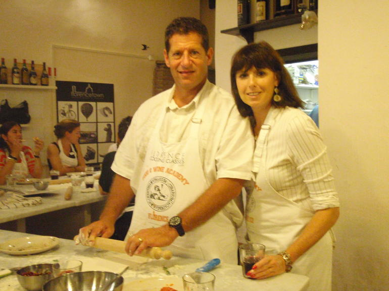 Gary and Nikki preparing the dough - Florence