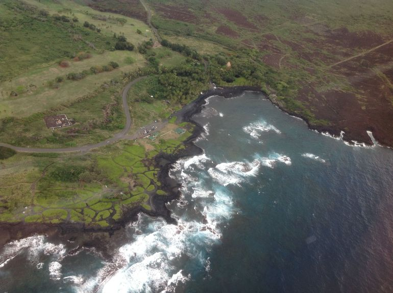 The rugged and beautiful Hawaii coastline.