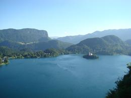 Photo of Slovenia Bled and Bohinj Valley Tour from Ljubljana Lake Bled taken from the Castle