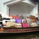 Photo of Bangkok Floating Markets of Damnoen Saduak Cruise Day Trip from Bangkok Purses galore at the Floating Market