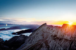 Sunset at Mt Pilatus - March 2012