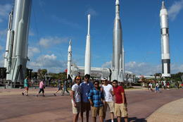 First stop at Kennedy Space center where the history of american space rockets , Vamsi P - December 2014
