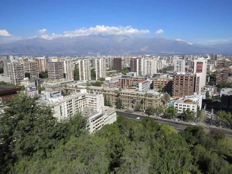 View over the city - Santiago
