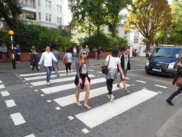 it was a great feeling walking on Abbey road it was like going through history and reacting what the Beatles did. , Gia - November 2015