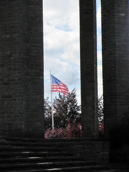 US flag at the Bastogne monument , Erin T - August 2013