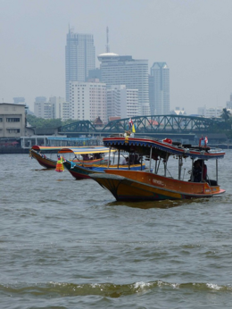 Boats on the Chao Phraya River., kellythepea - October 2010