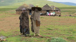 Photo of Durban Mountain Splendor -The Kingdom of Lesotho locals dressed for the cold in Durban