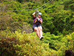Photo of Roatan Roatan Shore Excursion: Zip 'n' Dip Canopy Tour Look Ma, no hands!!