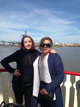 Karen and Olivia, enjoying a leisure day on the Mississippi. , Karen M - November 2015