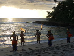 Hawaiian Dancers on the Beach at Paradise Cove Luau , Chloejay - September 2011