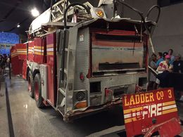 A picture of one the damaged fire and ladder trucks, very chilling experence , wayne m - September 2015