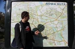 The crazy guide explained about the Nowa Huta area now and the past. - October 2008