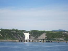 Photo of Quebec City Quebec City Historic Discoverers Cruise View of Montmorency Falls from cruise boat