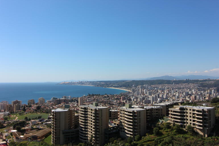 Overlooking Vina del Mar.